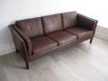 A 1970s Danish 3 seater Mogensen leather sofa