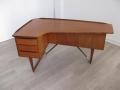 1950s teak Boomerang desk by Peter Løvig Nielsen