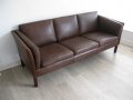 A Danish leather 3 seater sofa