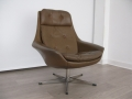 A 1970s Danish leather lounge chair