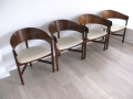 Rosewood tripod chairs by Robert Heritage for Archie Shine