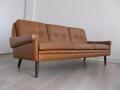 1960s tan leather Skipper sofa