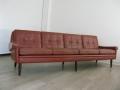 1960s 4 seater leather Skipper sofa
