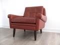 A Danish leather skipper chair
