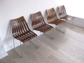 Rosewood Hans Brattrud Hove Mobler 'Scandia' chairs