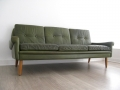 Green Skipper leather sofa