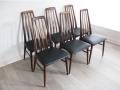 1960s rosewood Eva chairs Koefoeds Hornslet