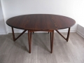 Rosewood drop-leaf table by Kurt Ostervig