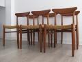 Solid teak Danish chairs by Dyrlund