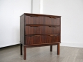 A small Danish rosewood chest of drawers