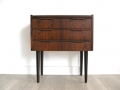 A Danish rosewood bedside cabinet