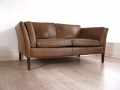 Borge Mogensen leather 2 seater sofa