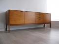 1960s teak sideboard with leather handles Meredew