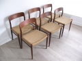 Model 75 teak JL Moller chairs
