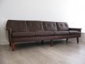 Danish leather 4 seater sofa