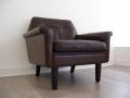 A Danish leather armchair