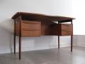 1970s Danish teak desk by Tibergaard