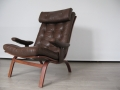 Bentwood leather lounge chair G Mobel