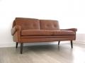 Danish leather Skippers sofa