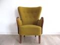 A 1940s highback armchair