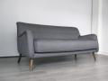 A grey Danish 1950s 3 seater sofa