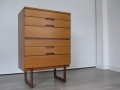 1960s tallboy chest of drawers by Uniflex