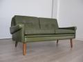 Danish 1970s leather Skipper sofa