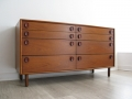 Large 1960s teak chest of drawers