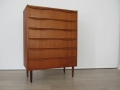 1960s teak Danish chest of drawers
