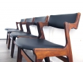 Rosewood Danish dining chairs by Dyrlund