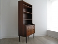 1960s rosewood bookcase desk