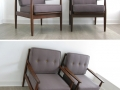 1960s solid teak armchairs