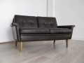Skippers Danish 2 seater leather sofa