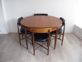 1970s teak dining table & chairs