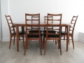 Koefoed Hornslet teak chairs with VV Mobler table