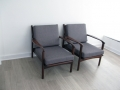 Pair of 1950s Toothill teak chairs
