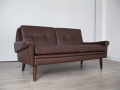 1960s 2 seater Danish leather Skippers sofa