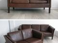 2 seater Danish leather sofa Borge Mogensen
