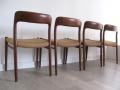 Teak model 75 chairs JL Moller