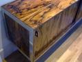Rosewood & chrome sideboard. Merrow Associates