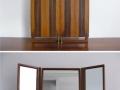 A 1960s Heals rosewood mirror