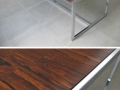Large 70s chrome/rosewood effect melamine table