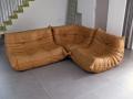 Leather Ligne Roset Togo sofa
